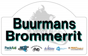 Buurmans Brommerrit rally bordje